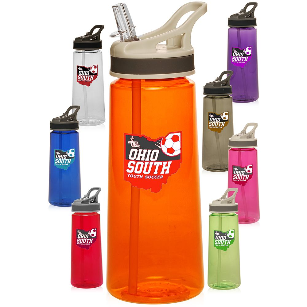 22 oz. Sports Water Bottles with Straw PG210 Water