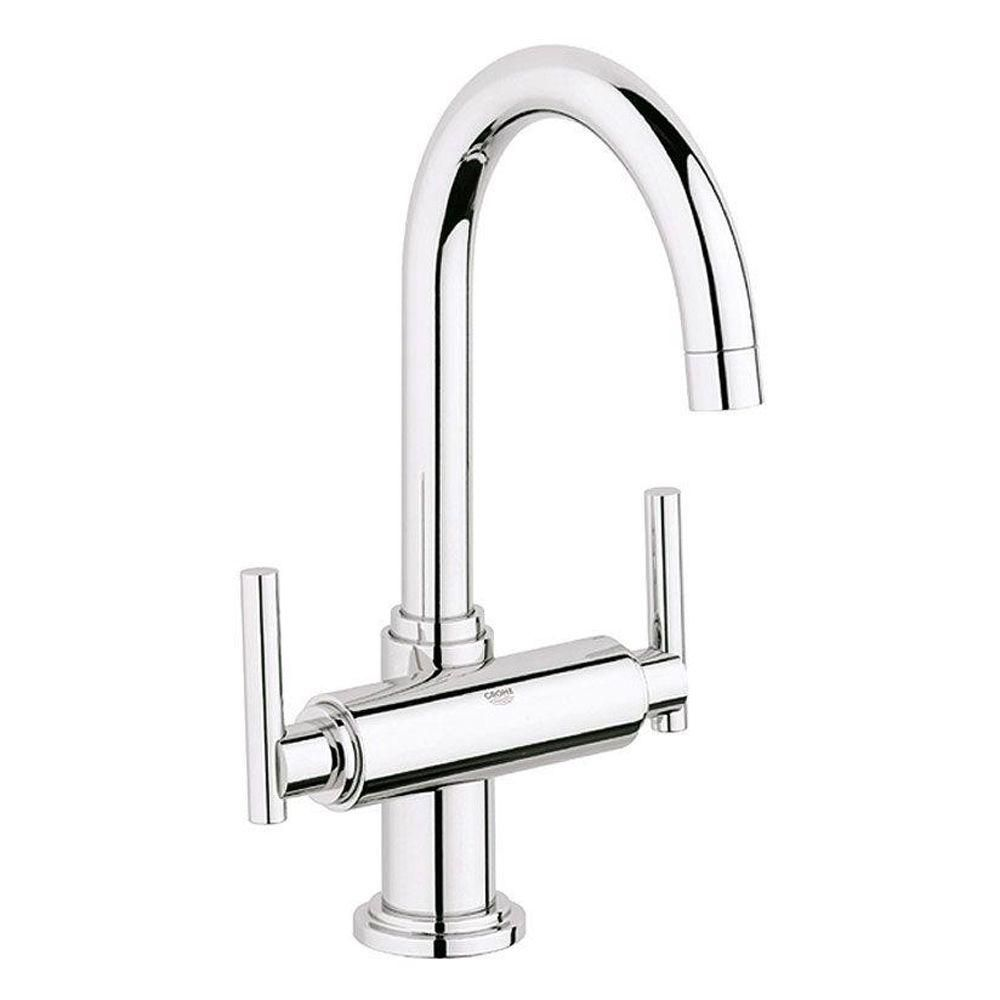 GROHE Atrio Single Hole 2-Handle High-Arc Bathroom Faucet in ...