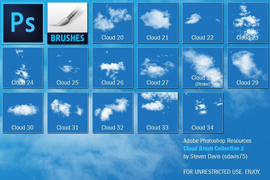 High Res Cloud Brushes Free Photoshop Brushes At Brusheezy Photoshop Brushes Free Cloud Painting Acrylic Painting Techniques