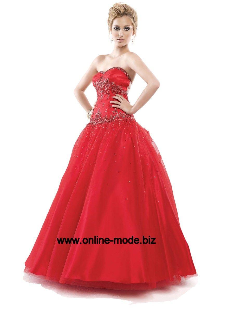 dcd0ea01102f1e Rotes Abend Kleid Ballkleid