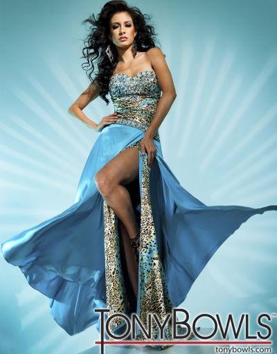 Turquoise Leopard Print Prom Dresses