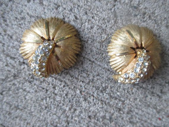 Vintage Earrings BSK Designer Ear Clips Mad Men by kuku4vintage