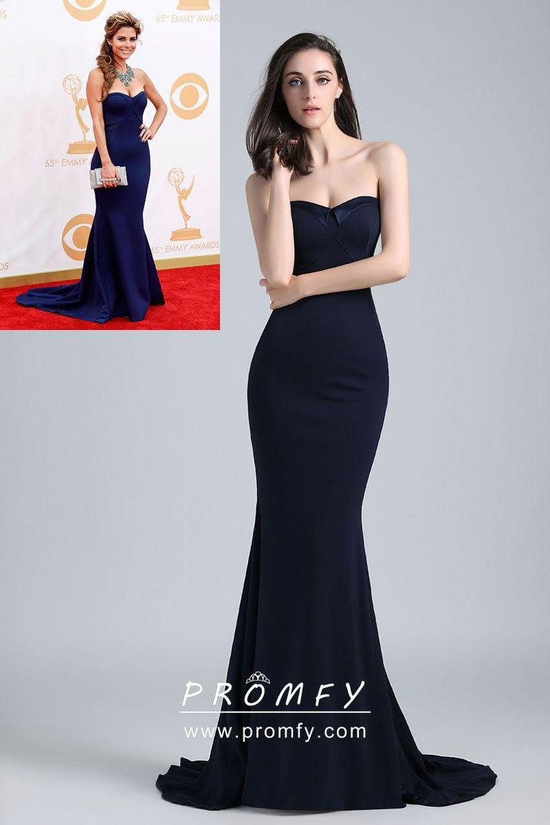 Midnight Blue Strapless Mermaid Long Formal Dress Spandex Dress Gowns Formal Dresses Dresses [ 1200 x 800 Pixel ]
