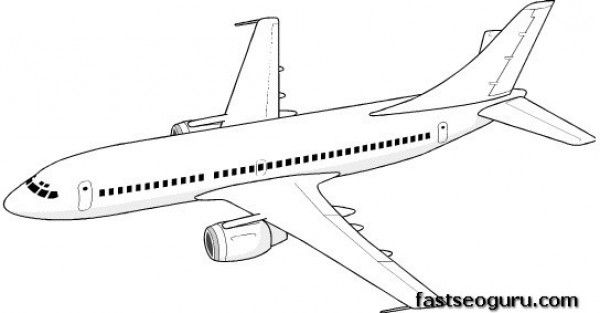 free Print out coloring pages for kids Jet Airplane