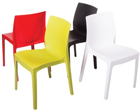 One Piece Plastic Stacking Chairs
