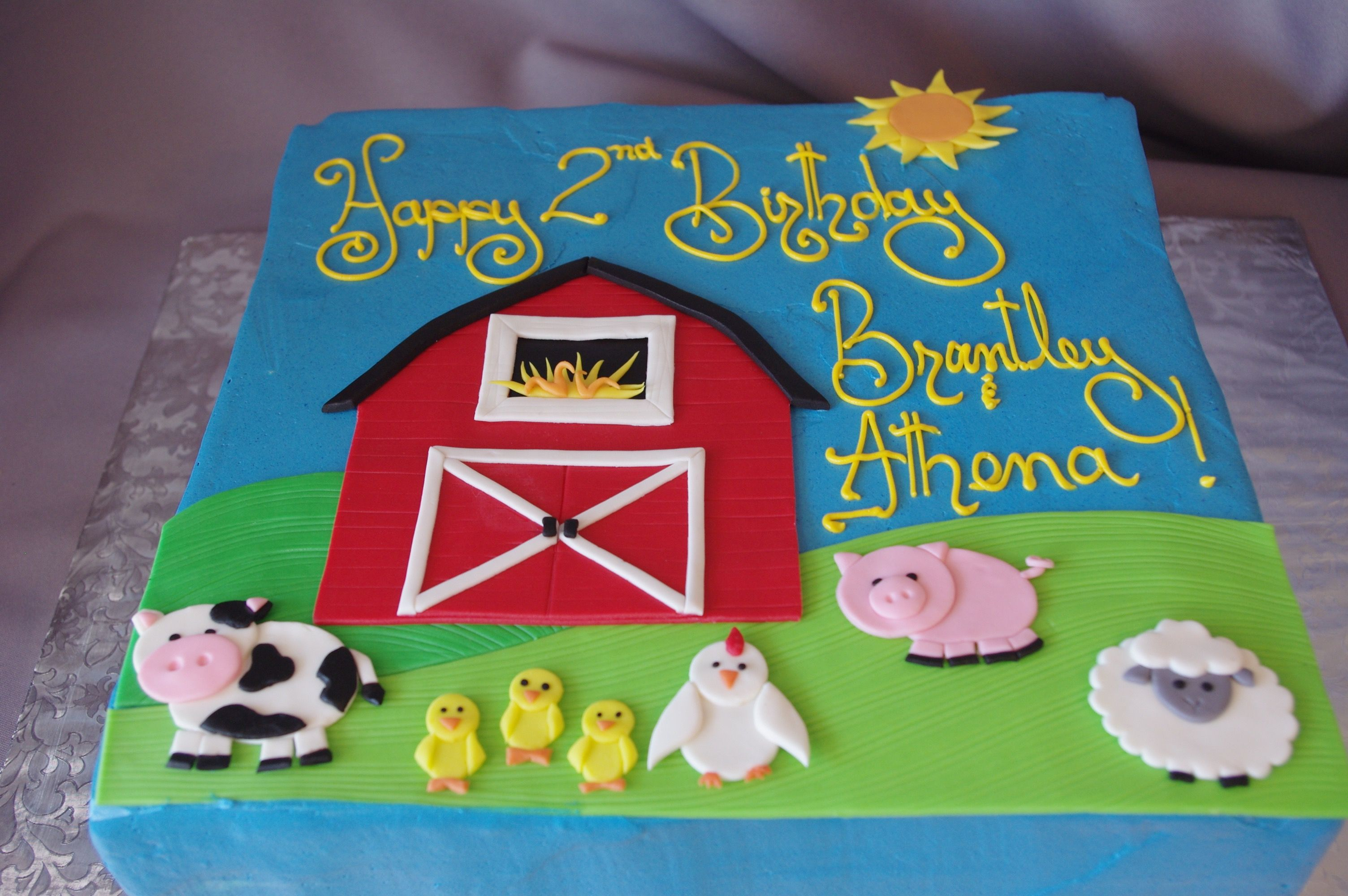 555 Flat Farm Animal Sheet Cake Farm Birthday Cakes Birthday Sheet Cakes Barnyard Birthday Party