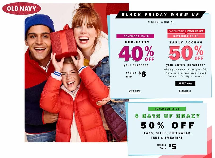 Old Navy Black Friday 2018 Ads Scan Deals And Sales See The Old Navy Black Friday Ad 2018 At 101blackfriday Com Find The Best 2018 Old Navy Black Friday Deals