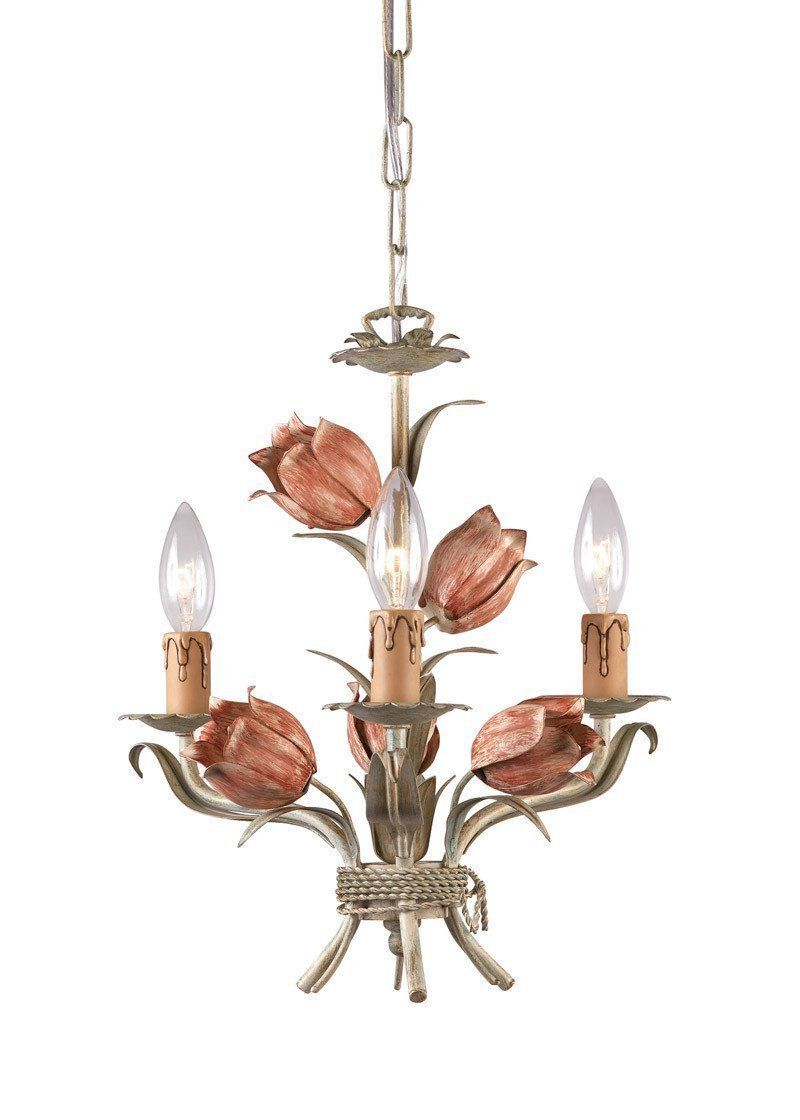 Crystorama 4803 sr 3 lights southport handpainted wrought iron mini crystorama 4803 sr 3 lights southport handpainted wrought iron mini chandelier sage aloadofball Gallery