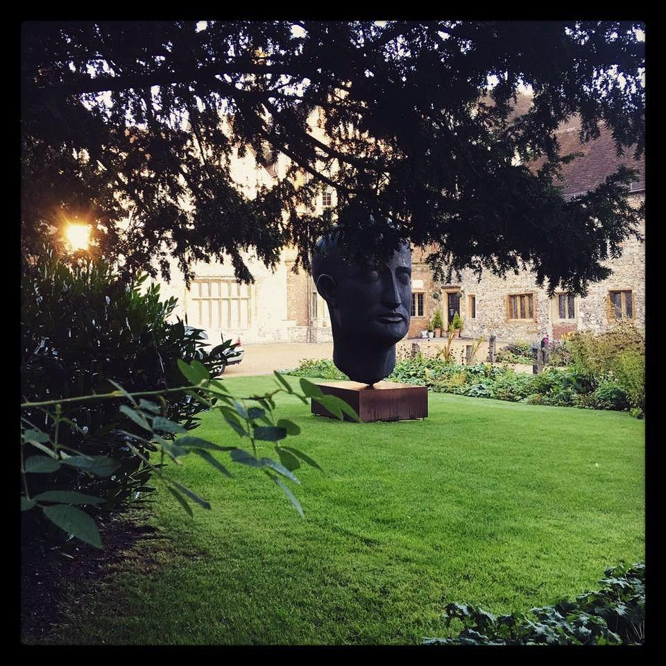 Julian Sainsbury sculpture \'Head\' in the grounds of Salisbury Museum ...
