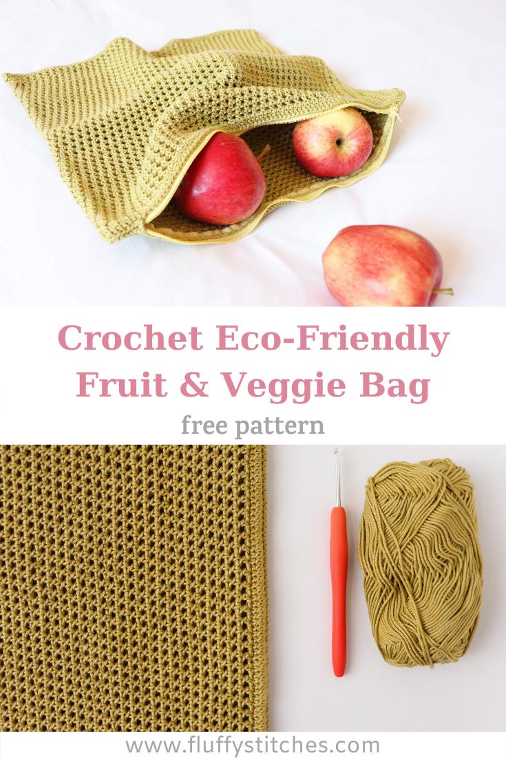 Photo of Crochet Eco-Friendly Fruit & Veggie Bag   Fluffy Stitches