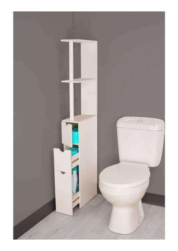 Meuble wc coulissant - 7662 - Salle de bain, WC rangement wc