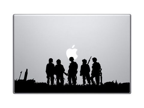 Band of brothers macbook decal