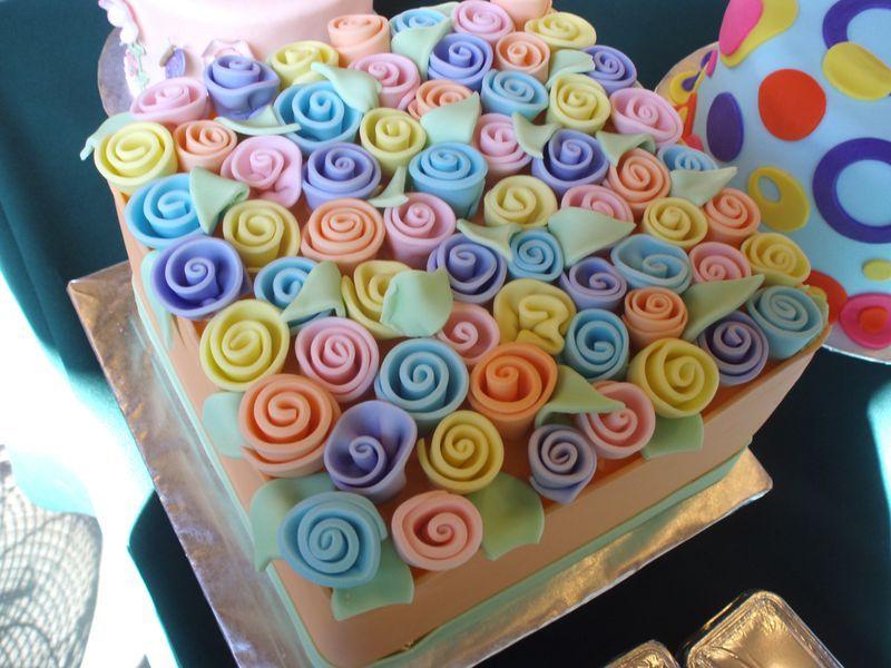Fondant Rose Covered Cake Ideas