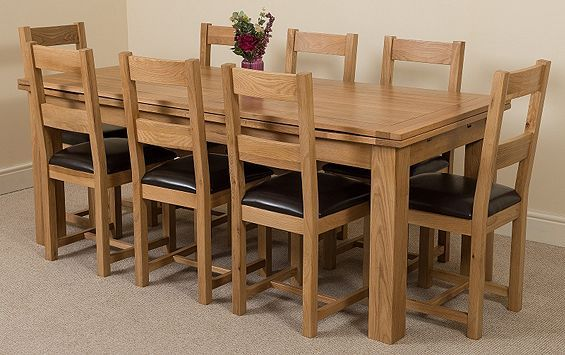 929 00 38 95 P Tesco Direct Richmond Solid Oak Extending 200 240 Cm Dining Table With 8 Lincoln Chairs