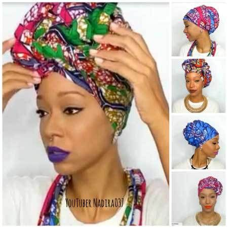 VIDEO: 5 Ways To Tie Your Head Wrap With African Ankara ...
