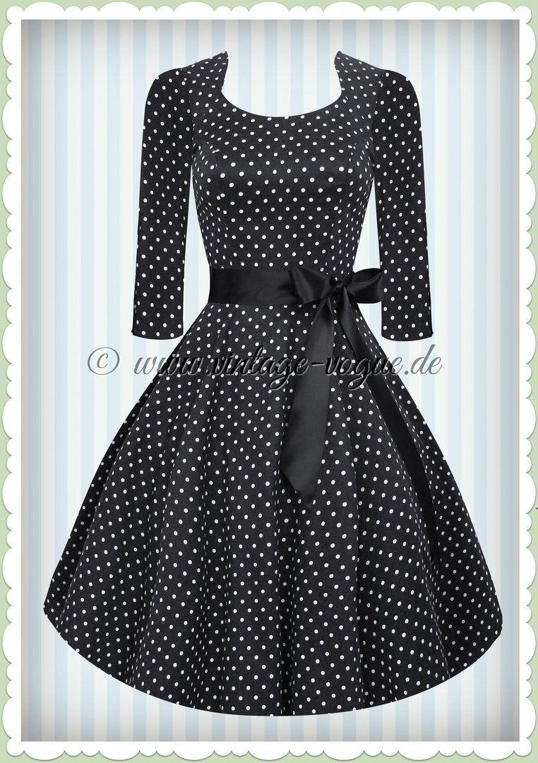 Hearts & Roses 17er Jahre Rockabilly Punkte Petticoat Kleid -Vero