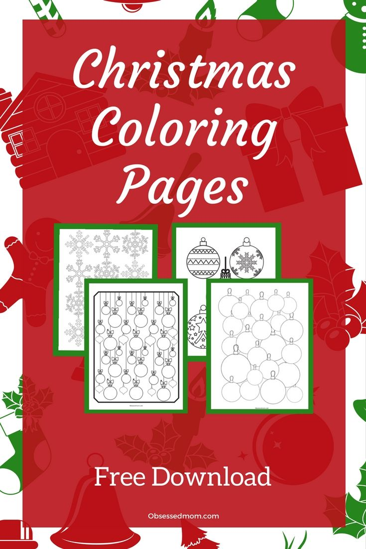 Christmas Coloring Pages! Free PDF download. Coloring pages with a ...