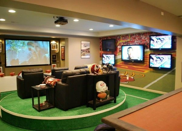 Man Cave Home Parties : Garage man caves for football season home matters love