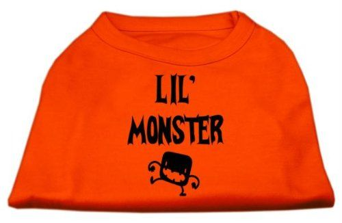 Mirage cat Products Lil Monster Screen Print Shirts Orange Sm (10) *** Tried it! Love it! Click the image. : Cat Apparel