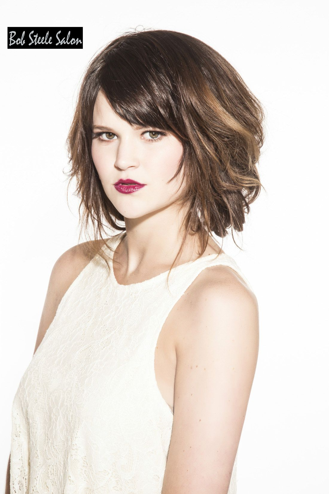 short textured hairstyle for thick hair | medium hairstyles