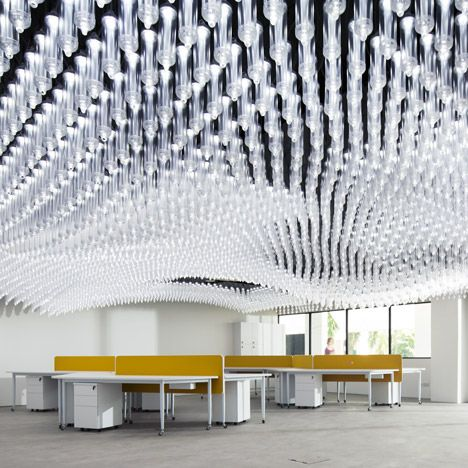 University Research Centre Featuring A Ceiling With 6 000 Moveable Lights Interior Design Awards Interior Architecture Best Interior Design