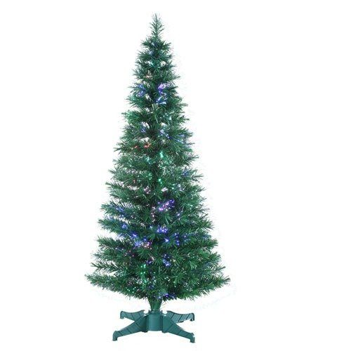 Sterling Inc. Fiber Optic Tree with Transformer Artificial Christmas Tree.  SRI1099 Features: LED bulb PVC tips Color/Finish: Color: Green fiber optic. - Sterling Inc. Fiber Optic Tree With Transformer Artificial Christmas