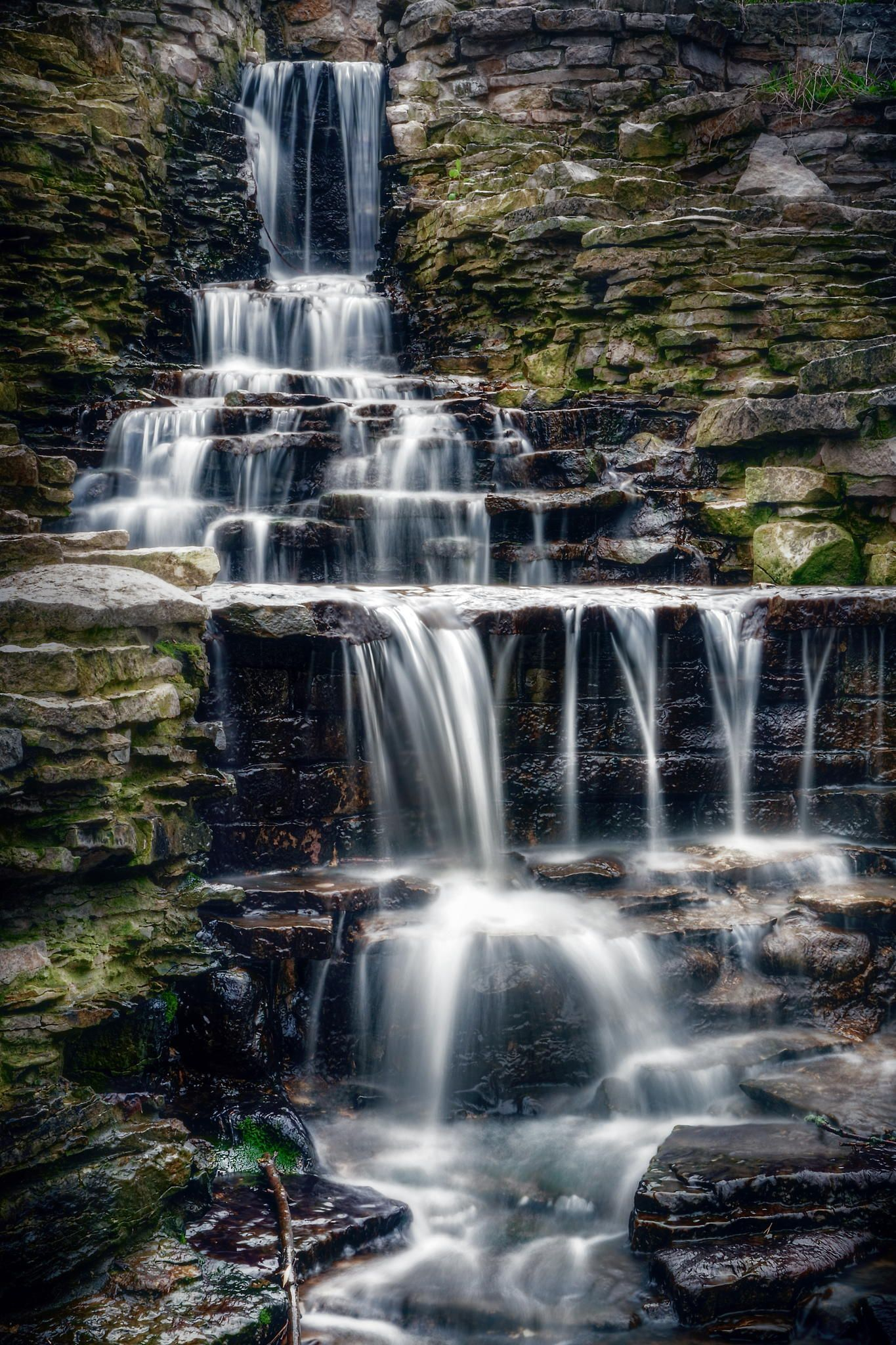 Lake Park Waterfall by Scott Norris on 500px the Lake Park waterfall was really flowing. Milwaukee, Wisconsin.