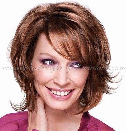 medium haircuts layered haircut graduated shorter in back toward 4693
