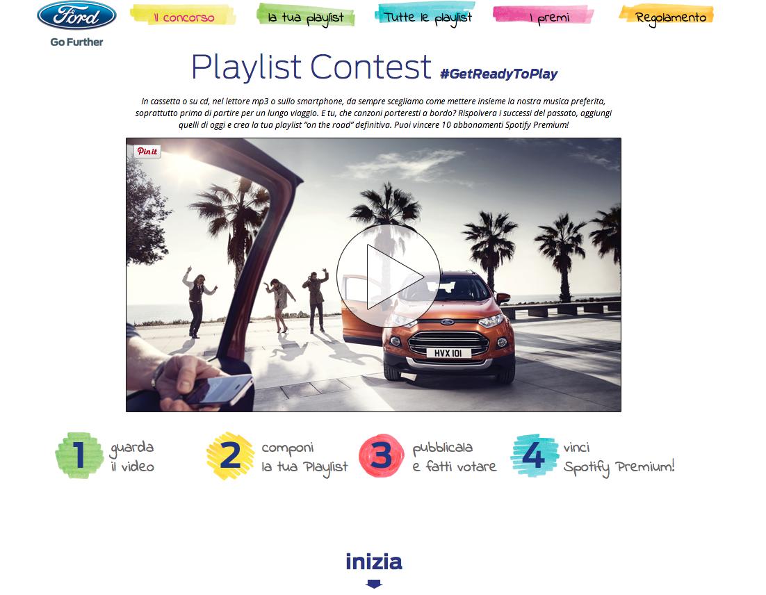 playlist contest - FORD #GetReadyToPlay