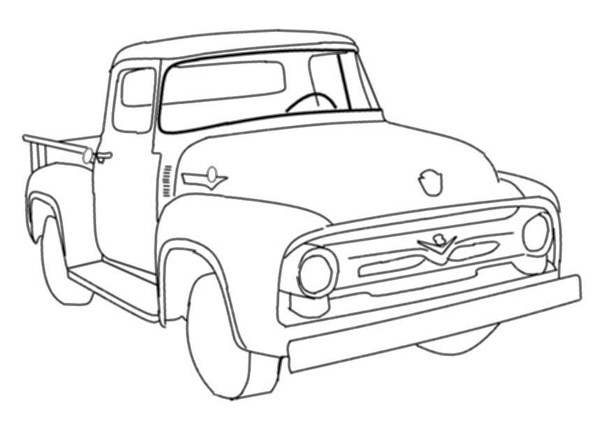 1956 Ford F100 Color Page Google Search Cars Coloring Pages