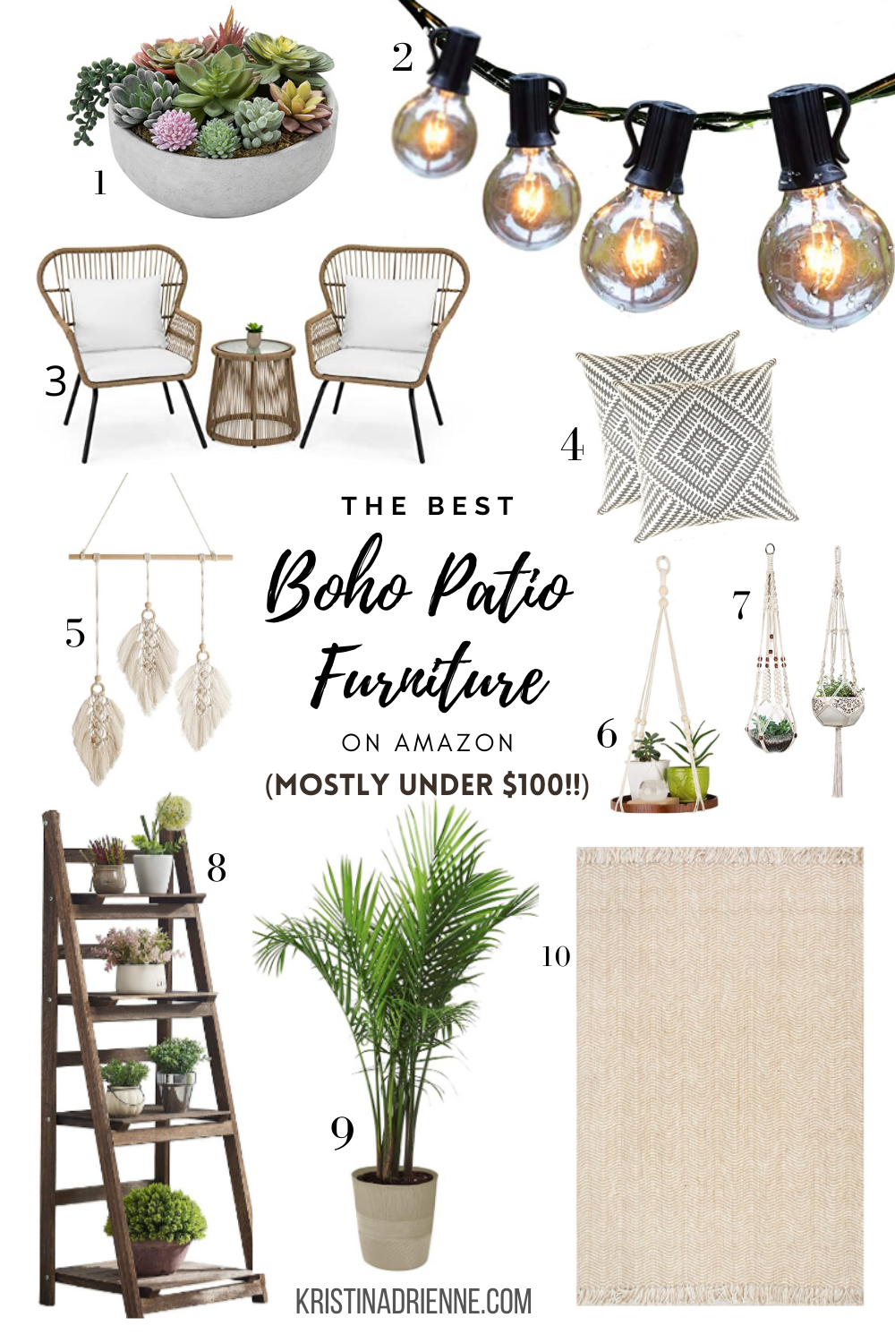 Photo of Boho Patio Ideas Outdoor Spaces | KristinAdrienne