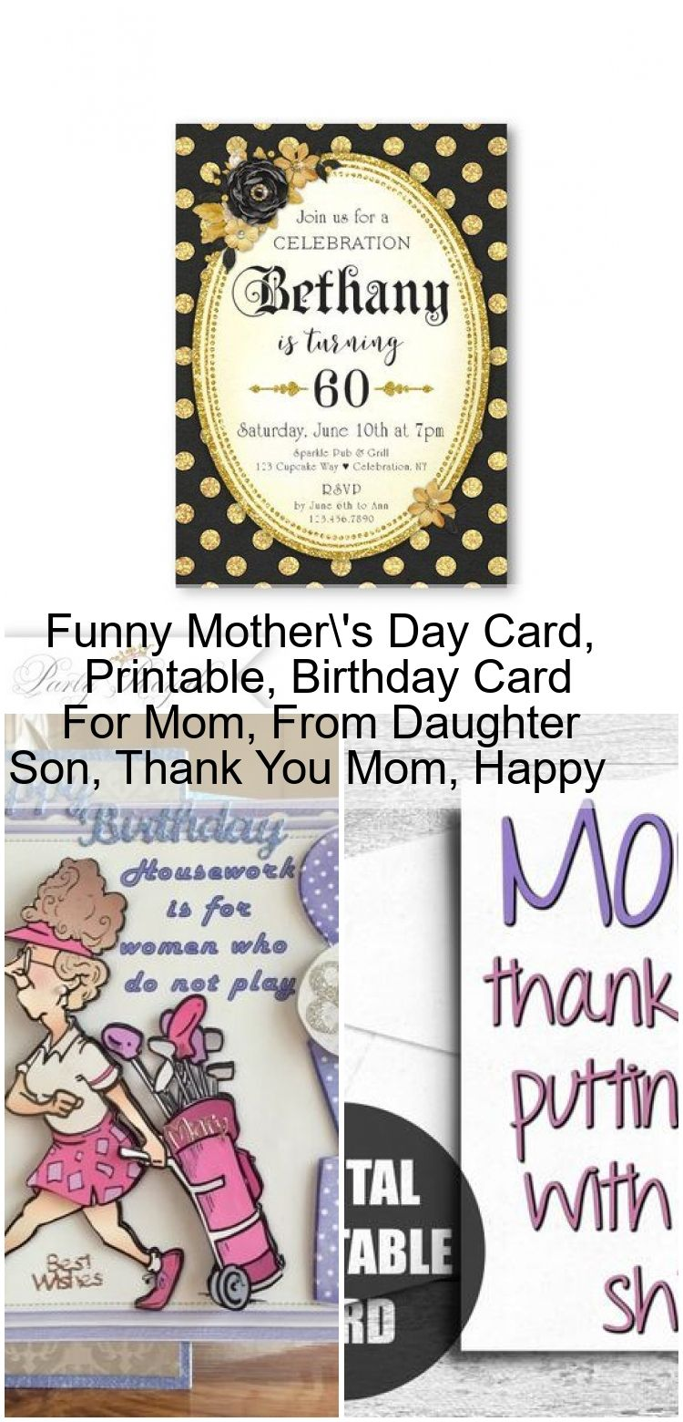 Funny mothers day card printable birthday card for mom