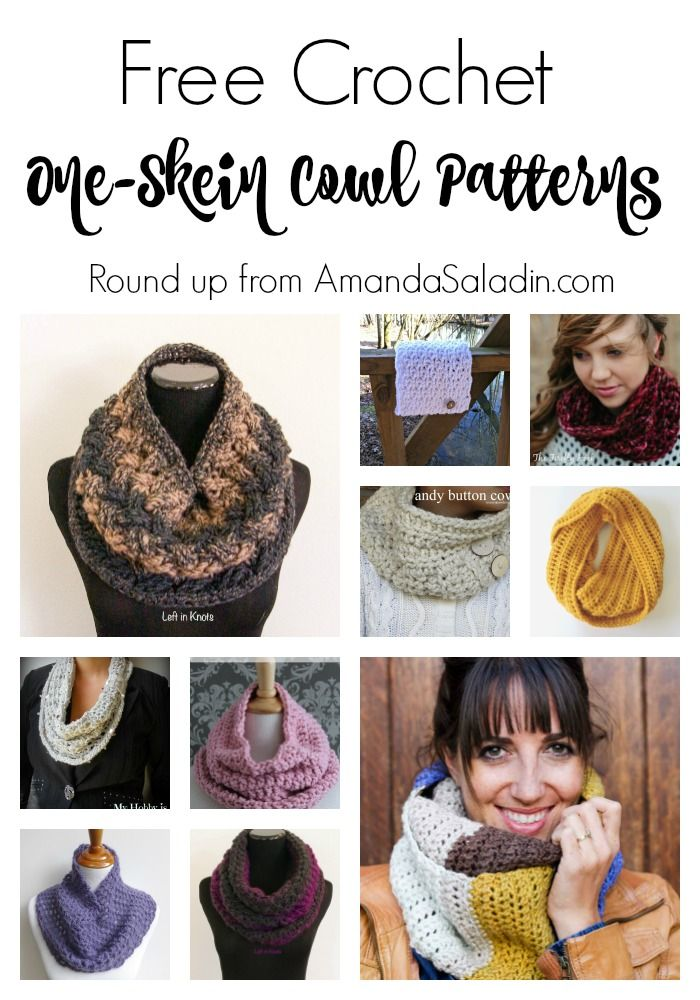 Free Crochet One-Skein Cowl Patterns | Patrones, Croché y Capuchas