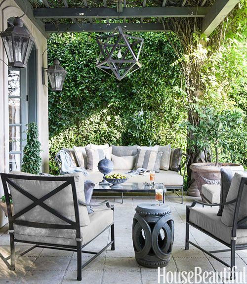 Beautiful Outdoor Spaces a california house with soft shades | house beautiful, mcdonalds