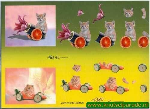 Nieuw bij Knutselparade: 0923  Mireille katten nr. 5 https://knutselparade.nl/nl/dieren/3053-0923-mireille-katten-nr-5.html   Knipvellen, Dieren  -  Mireille