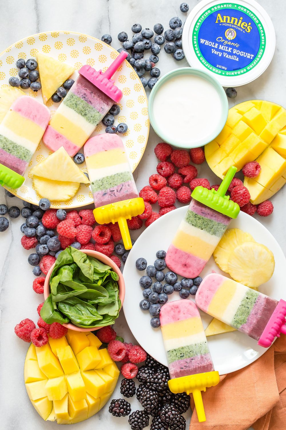 Make these beautiful rainbow yogurt popsicles and enter to win free yogurt from…