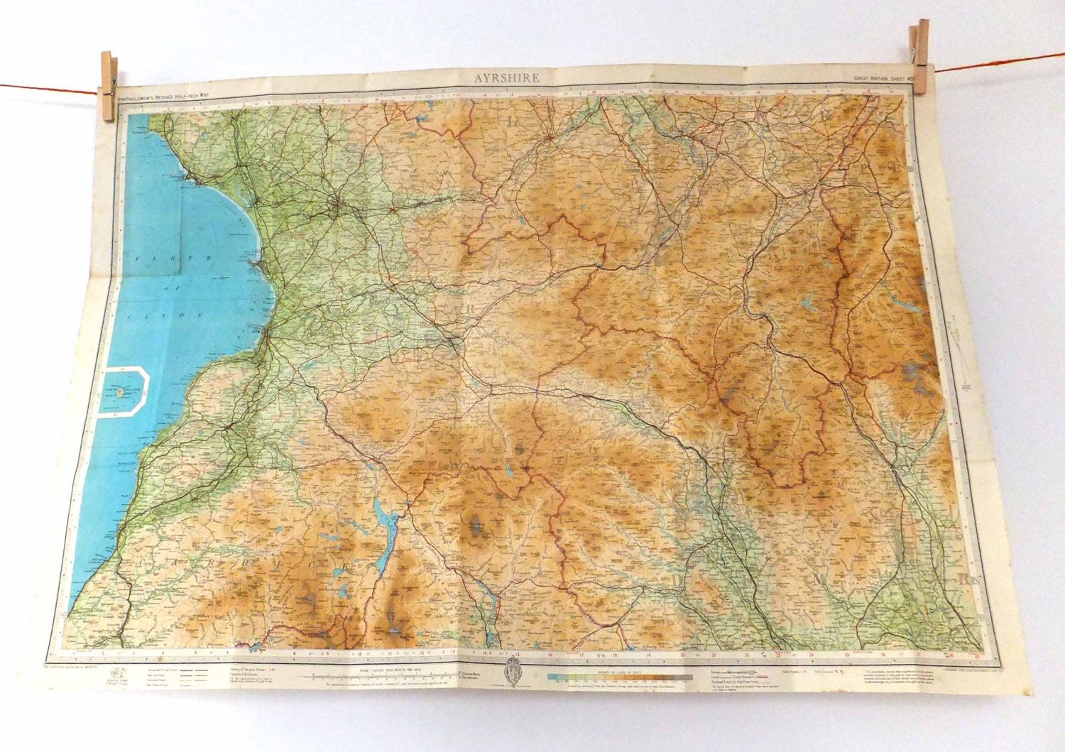 vintage brighton and worthing map large map of brighton and worthing ordnance survey map sheet 182 map poster worthing fc brighton and maps