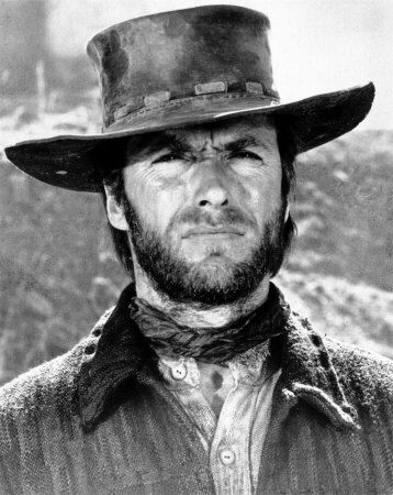Canvas Clint Eastwood Giant Poster Art Print Black /& White Card
