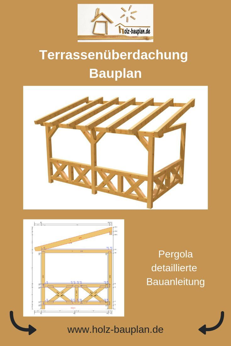 Wand-Pergola selber bauen