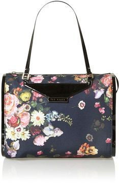 0313a7e5cce8 Ted Baker Floral canvas multi-coloured bowling bag on shopstyle.co.uk