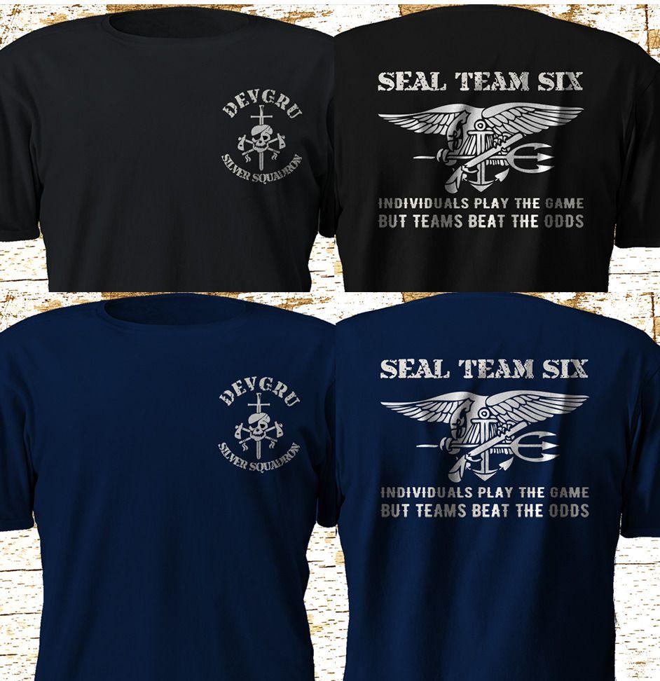 New Navy Seal Team 6 Six Devgru Silver Squadron Navy Black T Shirt S 4xl Unbranded Graphictee Seal Team 6 Navy Seals Navy Seal Shirts