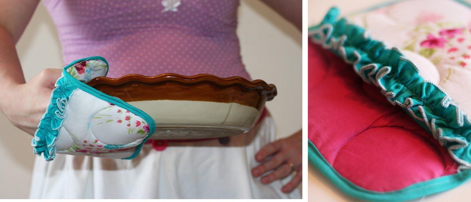 Ruffled Pocket Potholder Tutorial | Jessica Peck