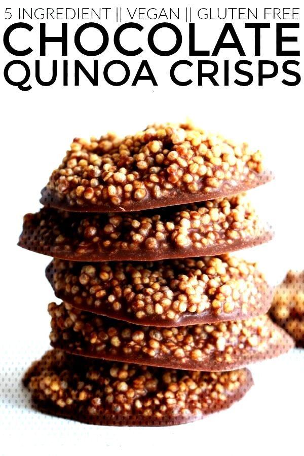 Chocolate Quinoa Crisps - The Toasted Pine Nut Chocolate Quinoa Crisps - The Toasted Pine Nut,