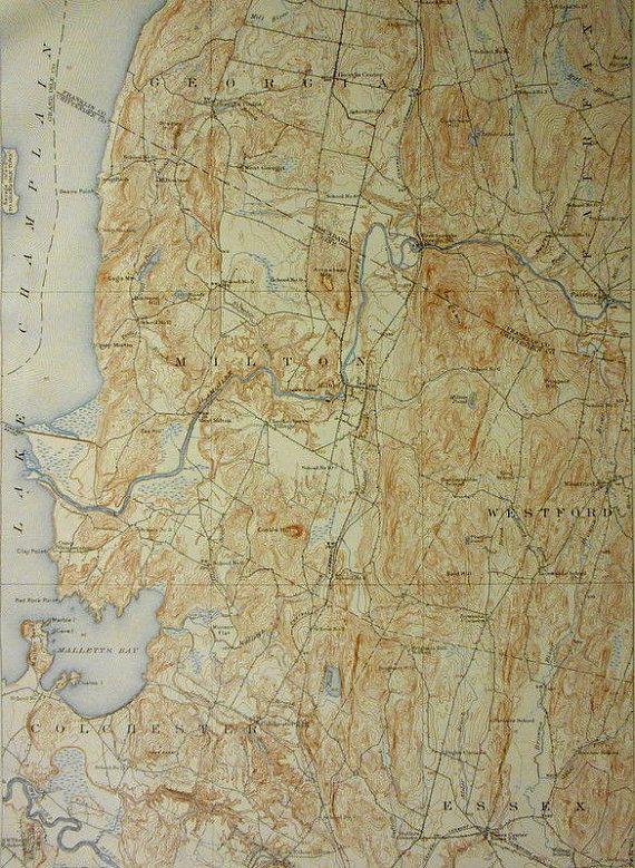 Map Of Georgia Vermont.1931 Milton Georgia Colchester Vt Vermont Lake Champlain