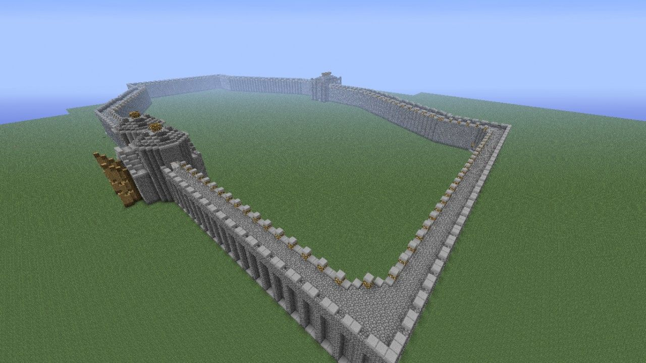 Minecraft Castle Wall News In This Year