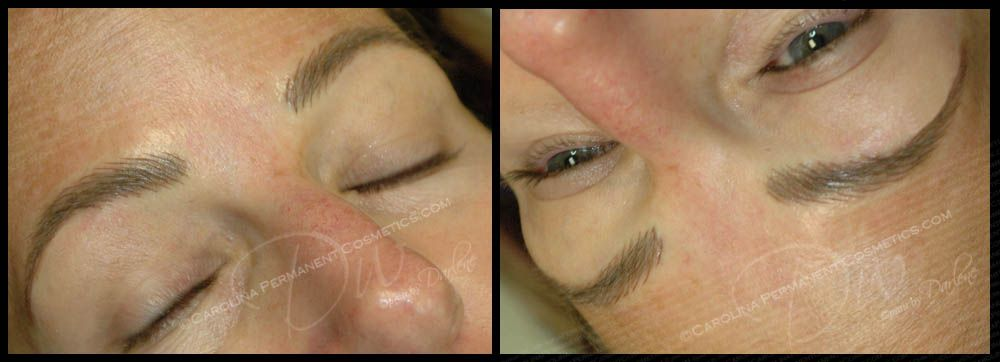 704 796 8221 Natural Looking Hair Stroke Eyebrows Done By Permanent