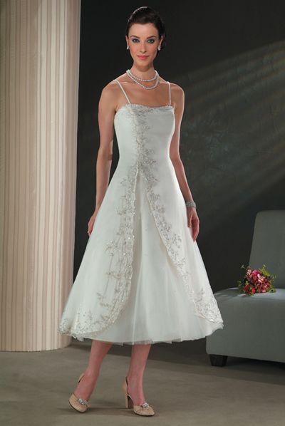 Tea length wedding dresses for older brides jewelry for Tea length wedding dresses for older women