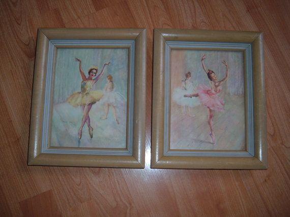 Vintage ballerina pictures girls room decor girls bedroom pictures vintage pictures