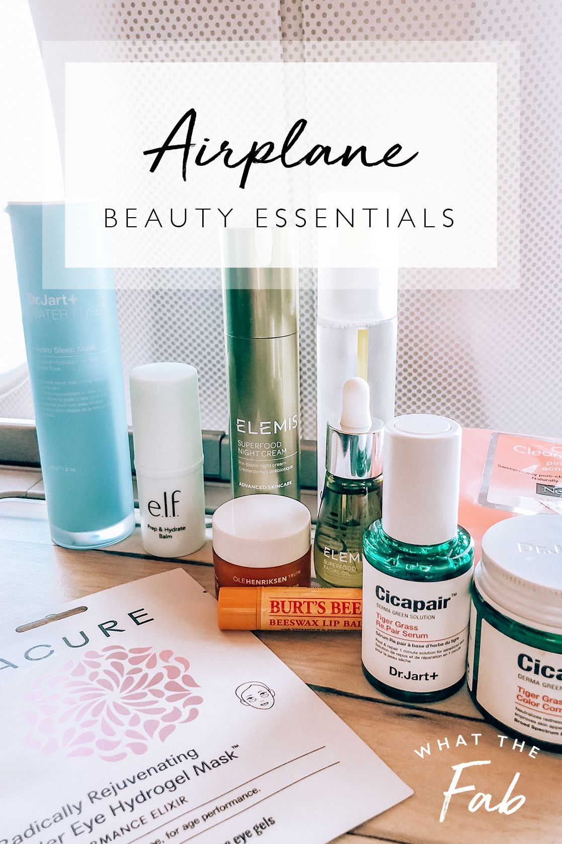 Airplane Beauty Essentials | Beauty & Travels | What The Fab #beautyessentials