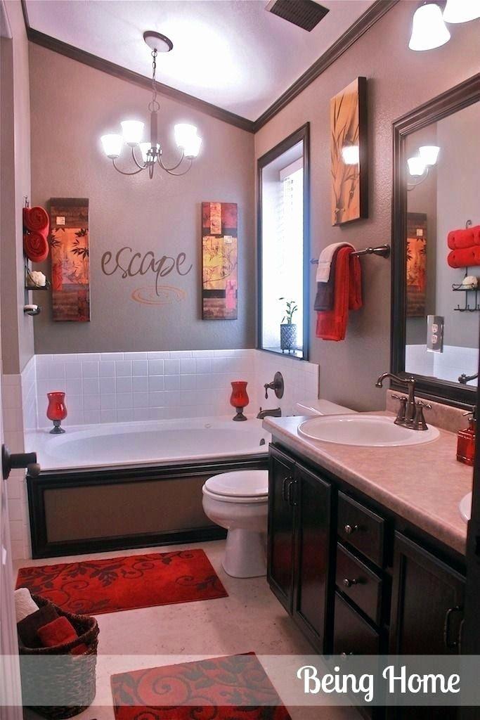 Technological Combat White Bathroom Decor Bathroom Red Home